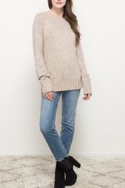 Hem & Thread Oatmeal Sprinkled Sweater - Back cropped