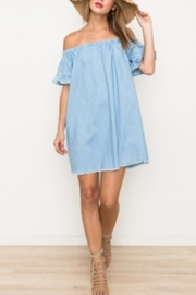 Hem & Thread Off Shoulder Dress - Product Mini Image