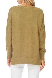 Hem & Thread Olive Crew Neck Sweater - Back cropped