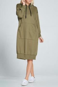 Shoptiques Product: Olive Hoodie Dress