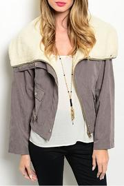 Hem & Thread Shearling Gray Jacket - Product Mini Image