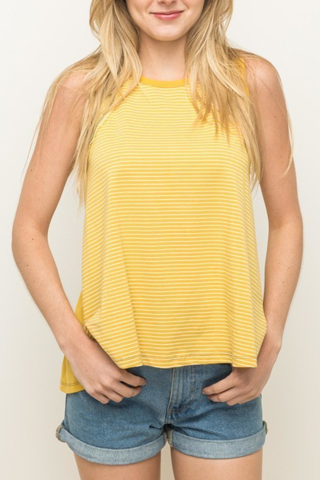 Hem & Thread Open Back Tank - Front Cropped Image