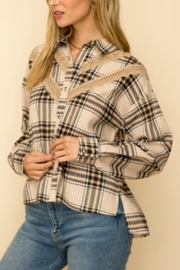 Hem & Thread Over-Sized Plaid Button-Down-Shirt - Product Mini Image