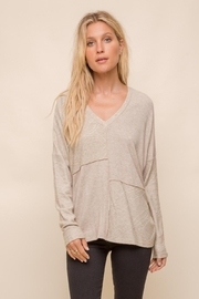 Hem & Thread Patchwork Knit Sweater - Front cropped
