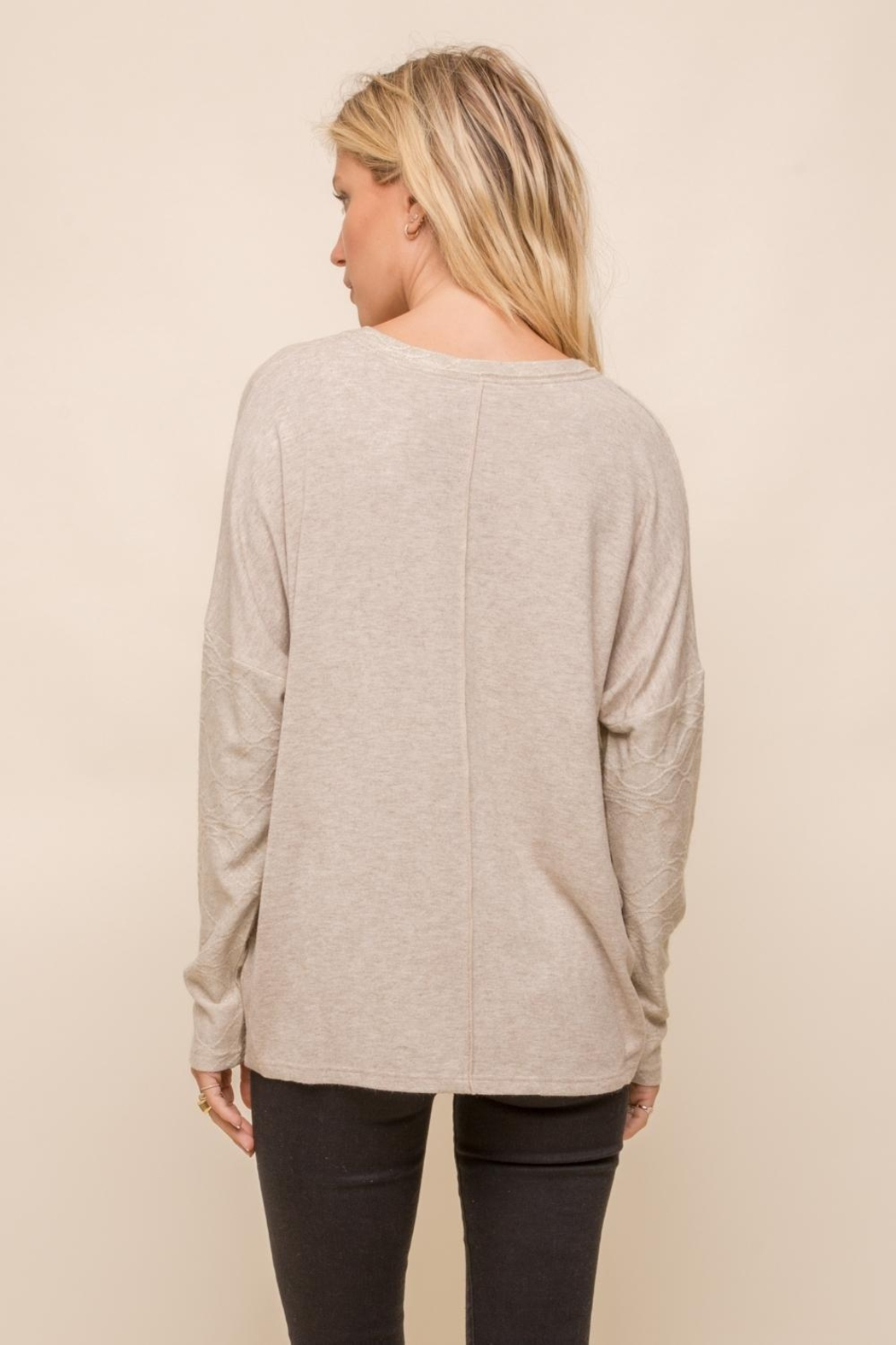 Hem & Thread Patchwork Knit Sweater - Front Full Image