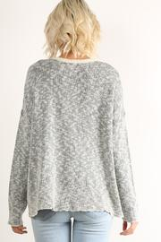 Hem & Thread Patterned Pullover Sweater - Front full body