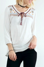 Hem & Thread Peasant Tie Shirt - Product Mini Image