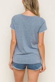 Hem & Thread Picot Edge Tee - Front full body