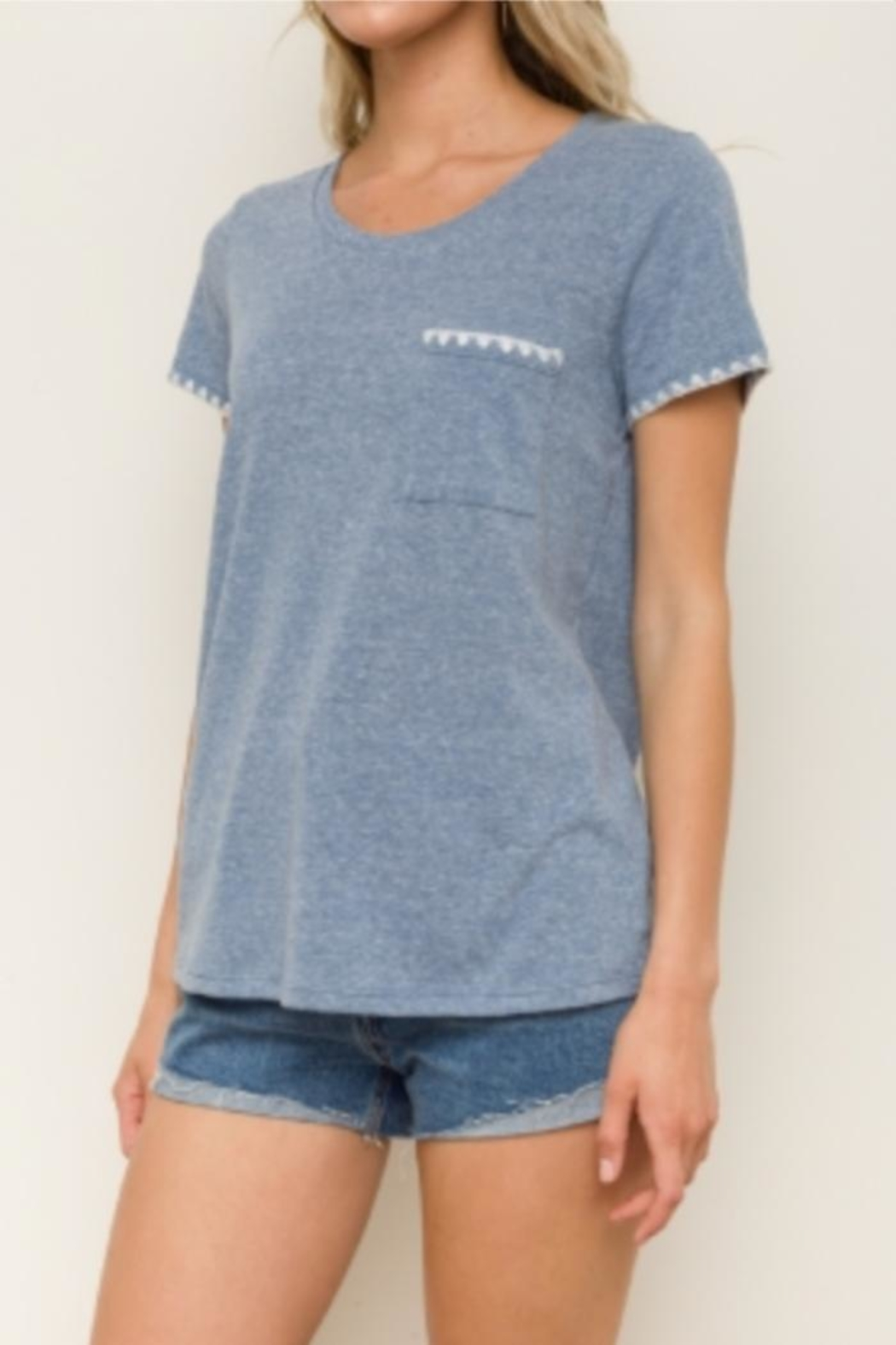 Hem & Thread Picot Edge Tee - Main Image