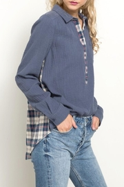 Hem & Thread Plaid Detail Shirt - Product Mini Image