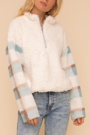 Hem & Thread Plaid Fuzzy Pullover - Product Mini Image