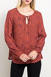 Hem & Thread Printed Blouse - Product Mini Image