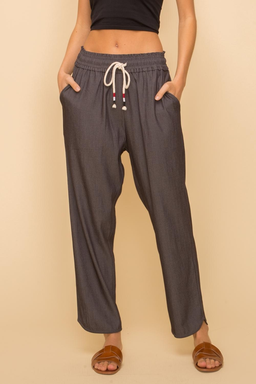 Hem & Thread Pull-On Relaxed Pant - Front Cropped Image