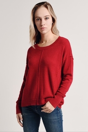 Hem & Thread Red Sprinkled Sweater - Product Mini Image