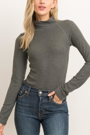 Hem & Thread Ribbed Turtleneck Bodysuit - Product Mini Image