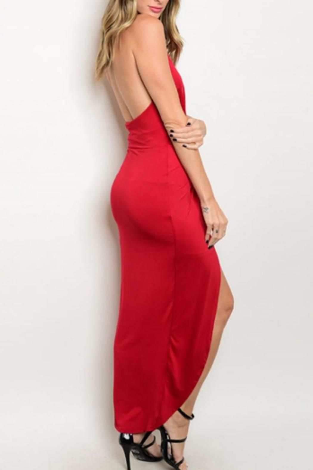 Hem & Thread Sexy Red Dress - Front Full Image