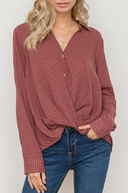 Hem & Thread Shadow Check Shirt - Product Mini Image