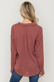 Hem & Thread Shadow Check Shirt - Front full body