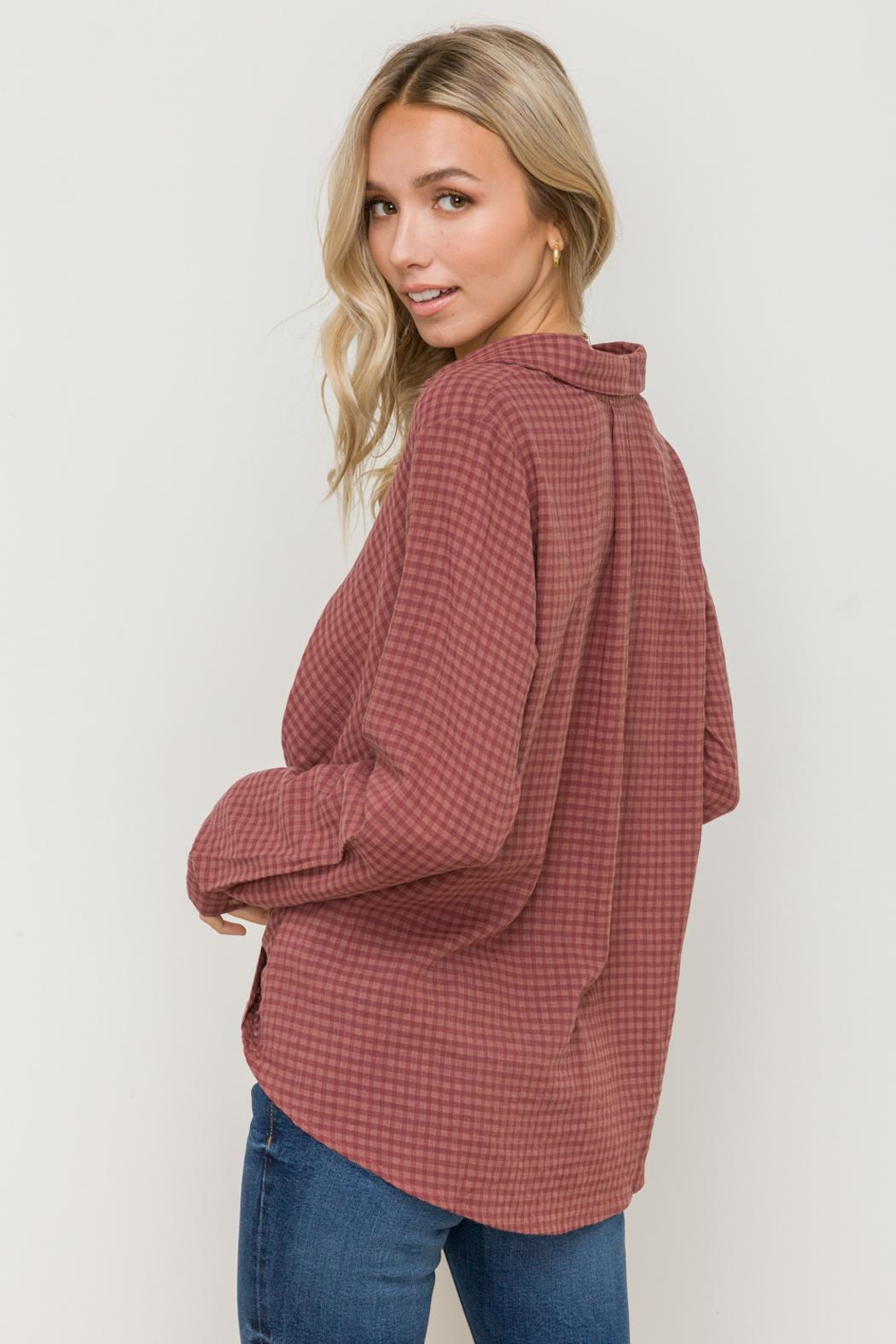Hem & Thread Shadow Check Shirt - Side Cropped Image