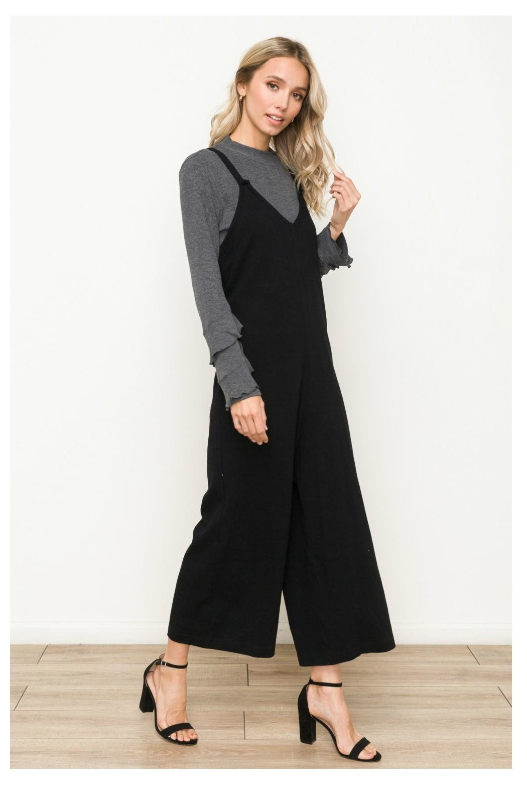 Hem & Thread Side Button Overalls - Front Full Image