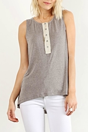 Hem & Thread Sleeveless Button Top - Front cropped