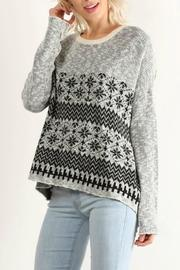 Hem & Thread Snowflake Sweater - Product Mini Image