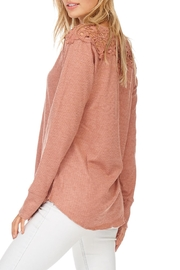 Hem & Thread Solid Lace Sweater - Back cropped