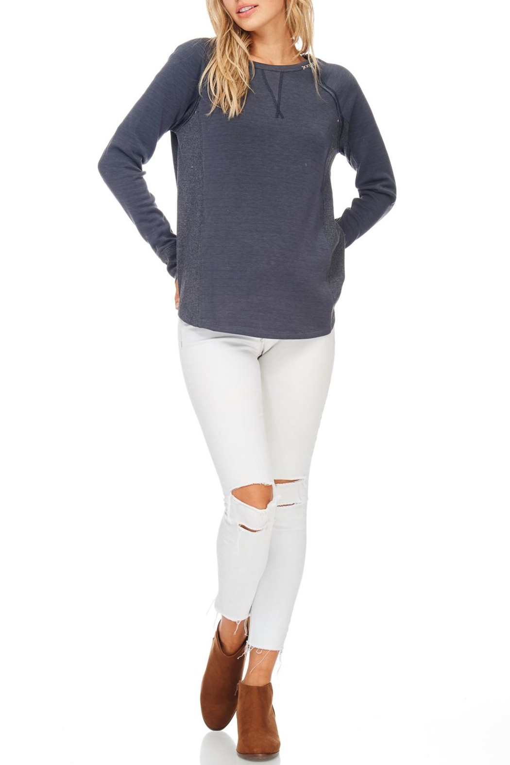 Hem & Thread Solid Pullover Sweater - Main Image