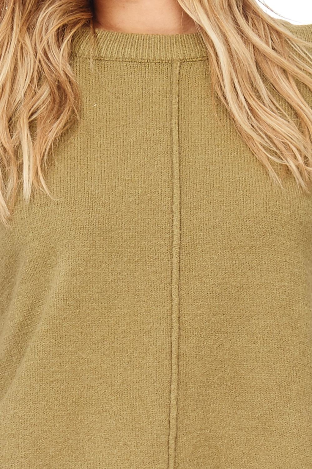 Hem & Thread Solid Swearter Dressy - Front Full Image