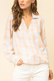 Hem & Thread Spring Plaid Blouse - Product Mini Image