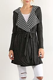 Hem & Thread Stripe Hoodie Cardigan - Product Mini Image