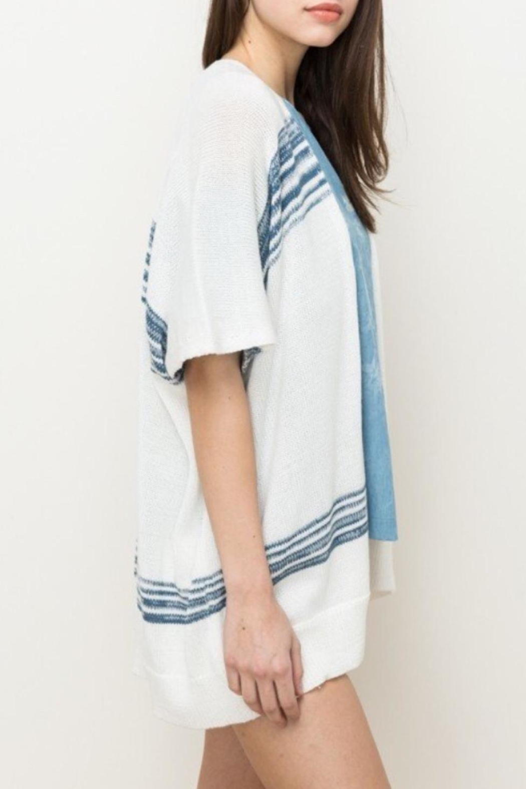 Hem & Thread Stripe Open Cardi - Front Full Image
