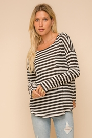 Hem & Thread Stripe Relaxed Fit Top - Product Mini Image