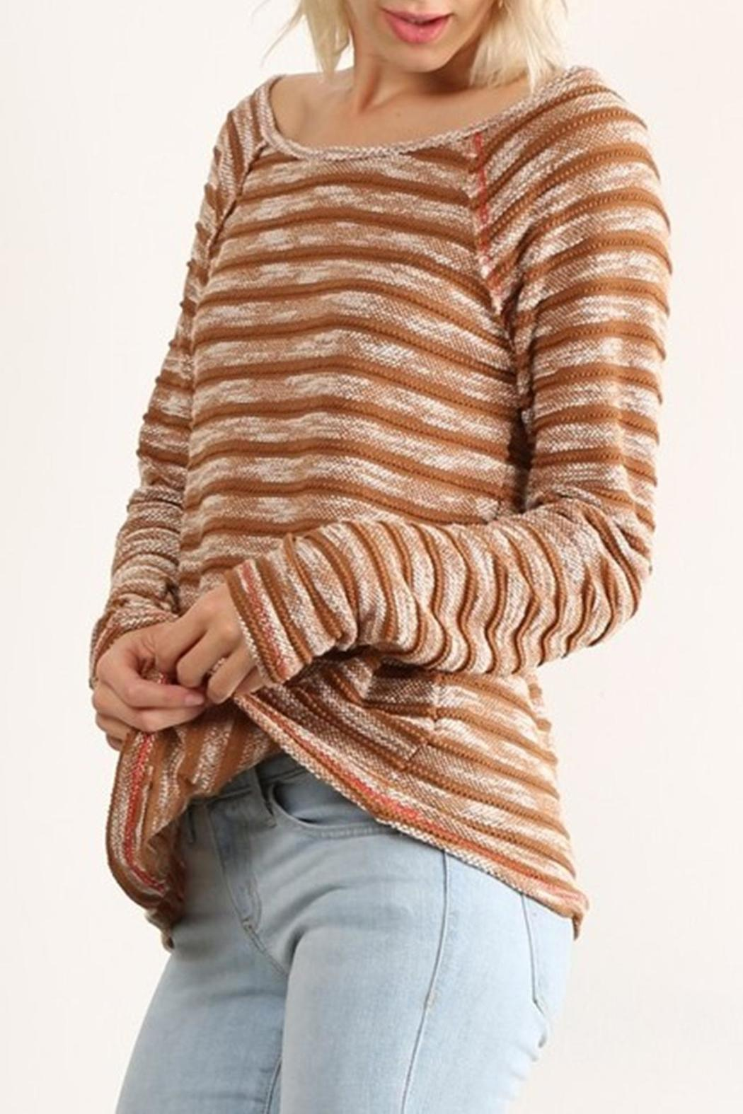Hem & Thread Stripe Stylin Top - Front Cropped Image