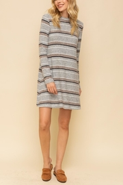 Hem & Thread Striped A-Line Dress - Product Mini Image