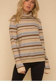 Hem & Thread Striped Lightweight Sweater - Product Mini Image