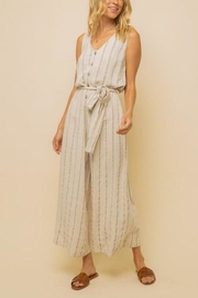 Hem & Thread Striped Linen Jumpsuit - Product Mini Image