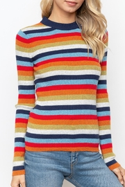 Hem & Thread Striped Mock Neck - Other
