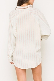 Hem & Thread Striped Oversized Shirt - Side cropped