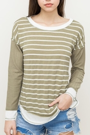 Hem & Thread Striped Oversized Top - Front cropped