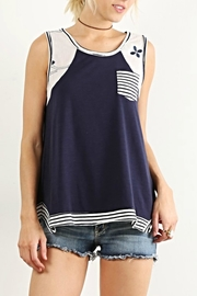 Hem & Thread Striped Pocket Top - Product Mini Image