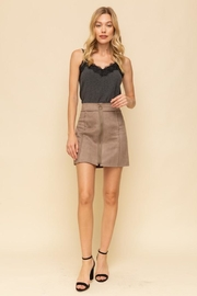 Hem & Thread Suede Skirt - Front cropped