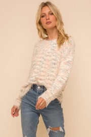 Hem & Thread Super Soft And Cozy Multi Color Knit Pullover Sweater - Front cropped