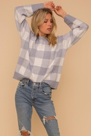 Hem & Thread Super Soft Checkered Plaid Pullover Sweater Top - Product Mini Image
