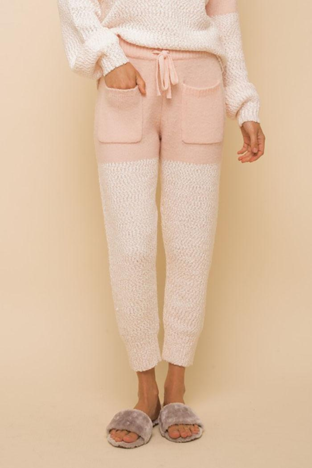 Hem & Thread Super Soft Colorblock Cozy Pants - Main Image