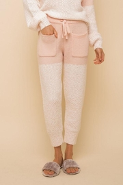 Hem & Thread Super Soft Colorblock Cozy Pants - Front cropped