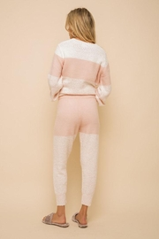 Hem & Thread Super Soft Colorblock Cozy Pants - Back cropped