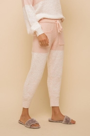 Hem & Thread Super Soft Colorblock Cozy Pants - Front full body