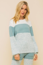 Hem & Thread Super Soft Colorblock Cozy Sweater - Product Mini Image