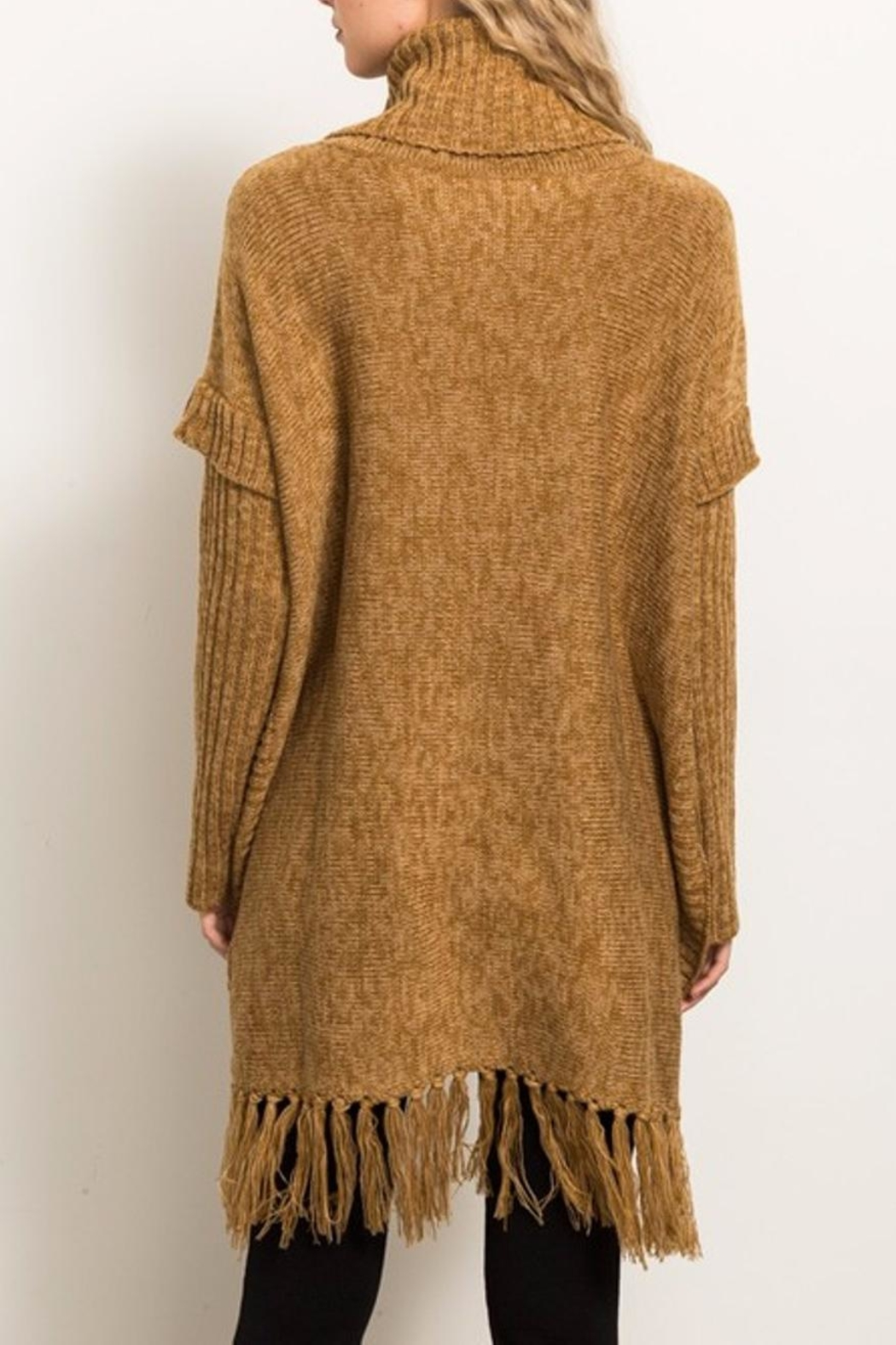 Hem & Thread Sweater Poncho - Back Cropped Image